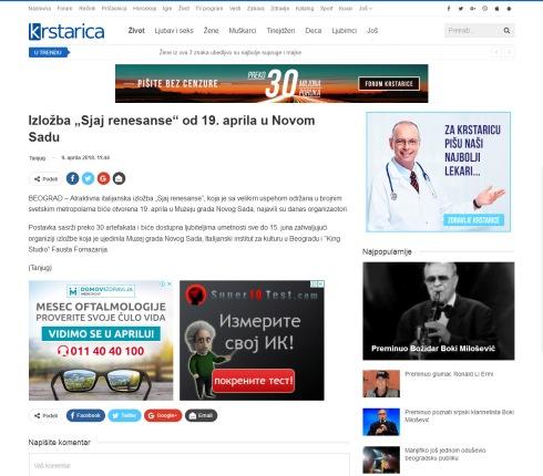 0904 - krstarica.com - Izlozba Sjaj renesanse od 19. aprila u Novom Sadu