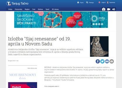 0904 - tanjug.rs - Izlozba Sjaj renesanse od 19. aprila u Novom Sadu