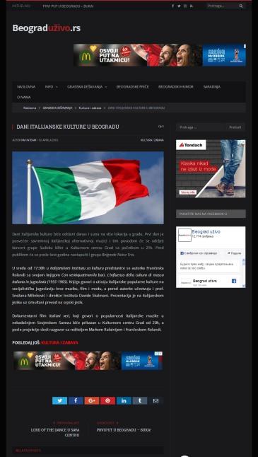 1004 - beograduzivo.rs - DANI ITALIJANSKE KULTURE U BEOGRADU