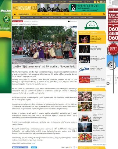 1004 - mojnovisad.com - Izlozba Sjaj renesanse od 19. aprila u Novom Sadu