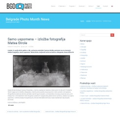 1304 - belgradephotomonth.org - Samo uspomena GÇô izlozba fotografija Matea Djirole