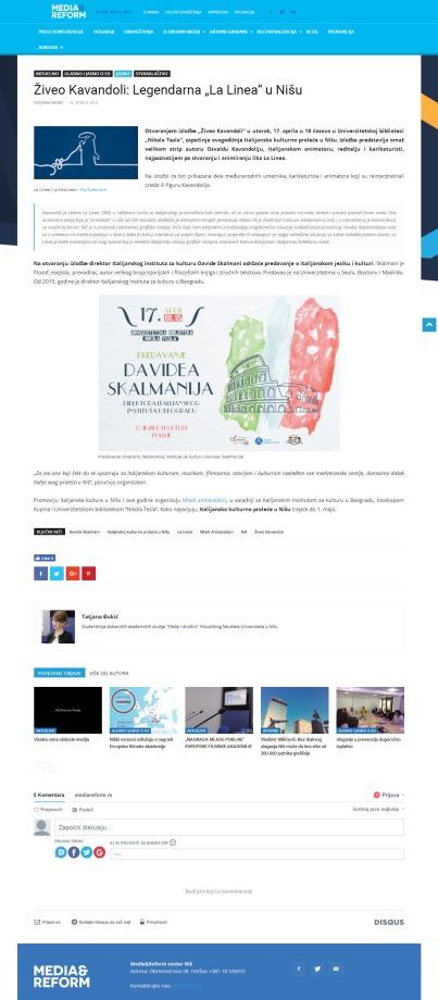 1604 - mediareform.rs - Ziveo Kavandoli- Legendarna La Linea u Nisu