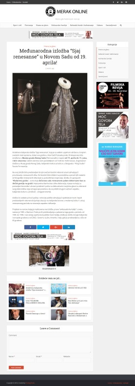1804 - merakonline.com - Medjunarodna izlozba Sjaj renesanse u Novom Sadu