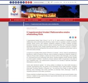 2003 - beograd.rs - U Jugoslovenskoj kinoteci Medjunarodna smotra arheoloskog filma