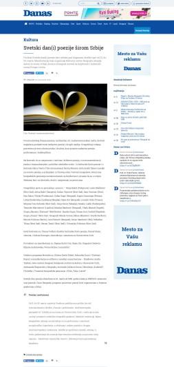 2003 - danas.rs - Svetski dan(i) poezije sirom Srbije