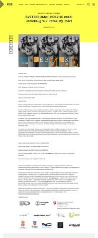 2103 - kcb.org.rs - SVETSKI DAN(I) POEZIJE 2018- Jezicke igre - Petak, 23. mart
