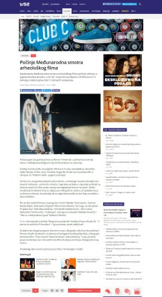 2203 - b92.net - Pocinje Medjunarodna smotra arheoloskog filma