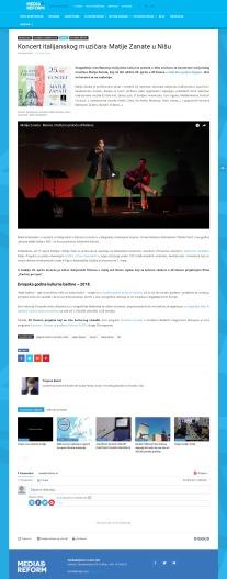 2404 - mediareform.rs - Koncert italijanskog muzicara Matije Zanate u Nisu