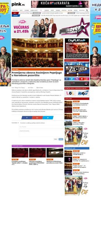 2504 - pink.rs - Premijerna obnova Rosinijeve Pepeljuge u Narodnom pozoristu
