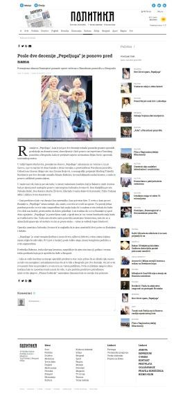 2504 - politika.rs - Posle dve decenije Pepeljuga je ponovo pred nama