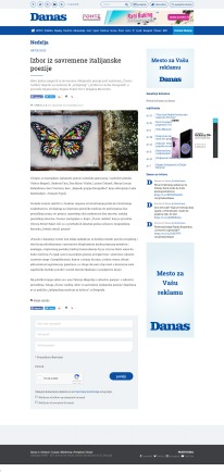 3103 - danas.rs - Izbor iz savremene italijanske poezije