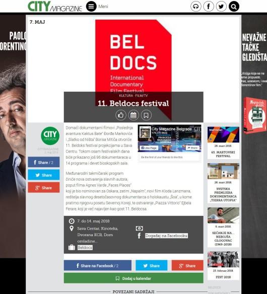 0205 - citymagazine.rs - 11. Beldocs festival