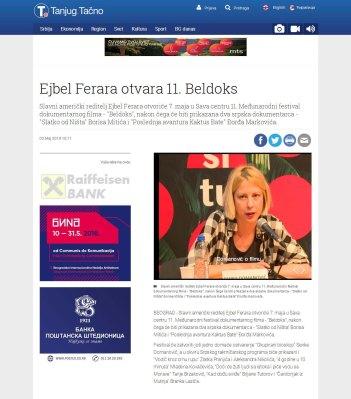 0305 - tanjug.rs - Ejbel Ferara otvara 11. Beldoks