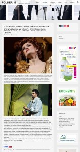 0405 - folder39.com - TOSKA U BEOGRADU- MAESTRALNA ITALIJANSKA SCENOGRAFIJA NA VELIKOJ POZORNICI SAVA CENTRA