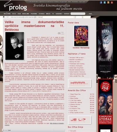 0505 - prolog.rs - Velika imena dokumentaristike uprilicice mastercasove na 11. Beldocsu
