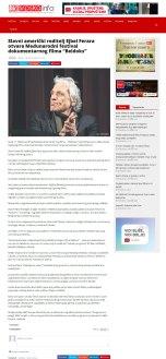 0605 - srpskainfo.com - Slavni americki reditelj Ejbel Ferara otvara Medjunarodni festival dokumentarnog filma Beldoks