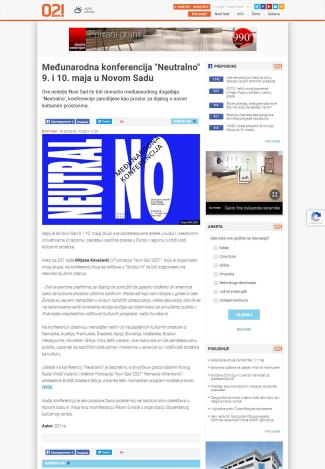 0705 - 021.rs - Medjunarodna konferencija Neutralno 9. i 10. maja u Novom Sadu
