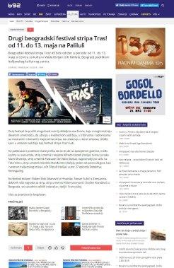 0705 - b92.net - Drugi beogradski festival stripa Tras od 11. do 13. maja na Paliluli