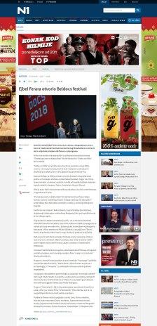 0705 - rs.n1info.com - Ejbel Ferara otvorio Beldocs festival