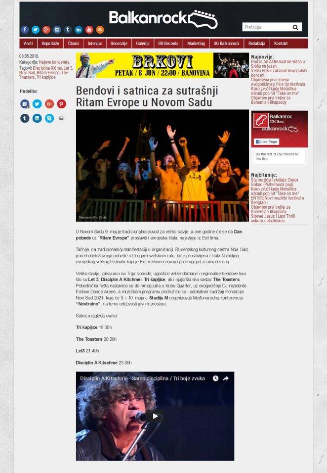 0805 - balkanrock.com - Bendovi i satnica za sutrasnji Ritam Evrope u Novom Sadu