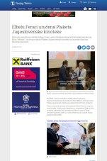 0905 - tanjug.rs - Elbelu Ferari urucena Plaketa Jugoslovenske kinoteke
