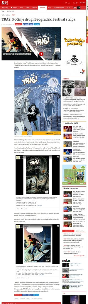 1005 - blic.rs - TRAS Pocinje drugi Beogradski festival stripa