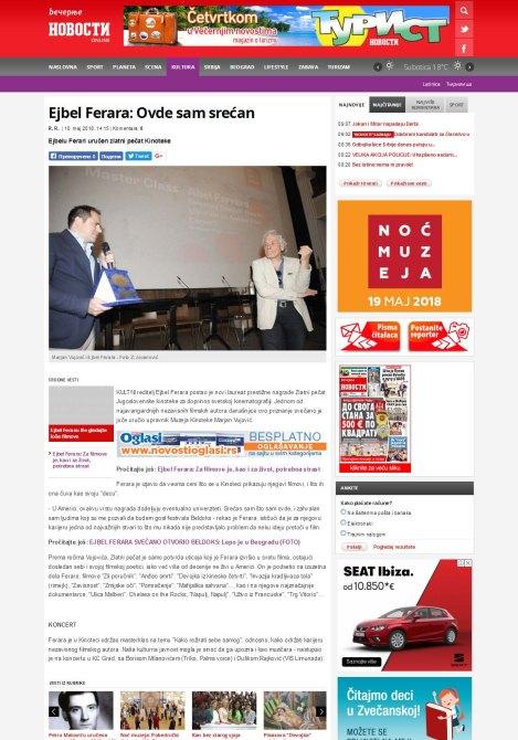 1005 - novosti.rs - Ejbel Ferara- Ovde sam srecan