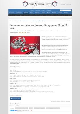 1805 - dobrevesti.rs - Festival italijanskog filma u Beogradu