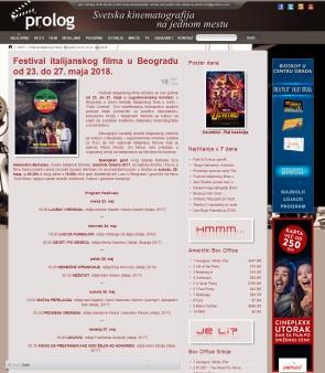 1805 - prolog.rs - Festival italijanskog filma u Beogradu od 23. do 27. maja 2018