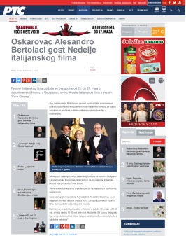 1805 - rts.rs - Oskarovac Alesandro Bertolaci gost Nedelje italijanskog filma