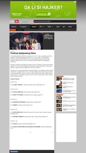 2005 - mojtv.net - Festival italijanskog filma