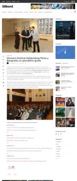 2305 - bilbord.rs - Otvoren Festival italijanskog filma u Beogradu uz specijalne goste
