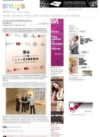 2505 - style.rs - Otvoren Festival italijanskog filma u Beogradu