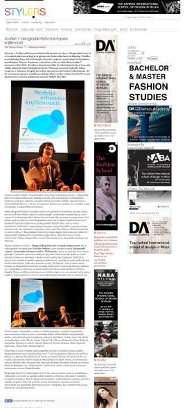 0207 - style.rs - Zavrsen 7. Beogradski festival evropske knjizevnosti