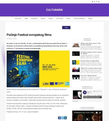 0307 - culturama.rs - Pocinje Festival evropskog filma