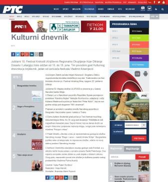 0606 - rts.rs - Kulturni dnevnik - najava