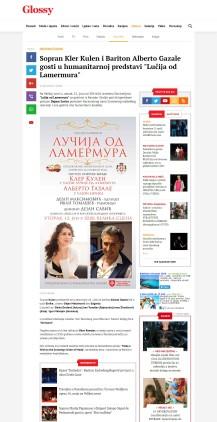 0706 - glossy.espreso.rs - Sopran Kler Kulen i Bariton Alberto Gazale gosti u humanitarnoj predstavi Lucija od Lamermura