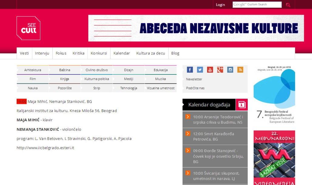 0806 - seecult.org - Maja Mihic, Nemanja Stankovic, BG