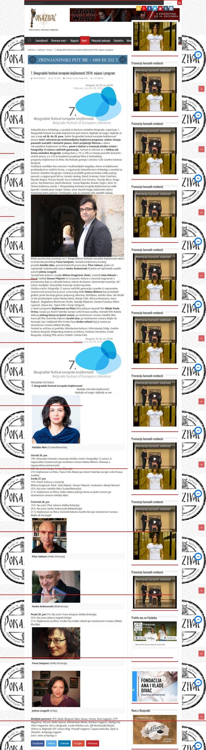 1606 - pokazivac.com - 7. Beogradski festival evropske knjizevnosti 2018 - najava i program