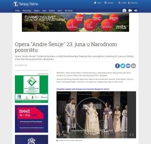 2006 - tanjug.rs - Opera Andre Senije 23. juna u Narodnom pozoristu