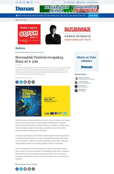 2506 - danas.rs - Novosadski Festival evropskog filma od 4. jula