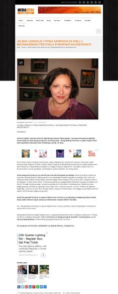 2806 - mediasfera.rs - Jelena Lengold i Fiona Sampson za kraj 7. Beogradskog festivala evropske knjizevnosti