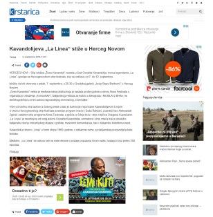 0609 - krstarica.com - Kavandolijeva La Linea stize u Herceg Novom