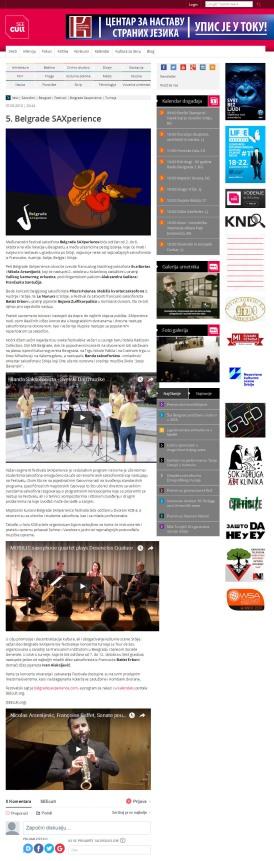 0709 - seecult.org - 5. Belgrade SAXperience