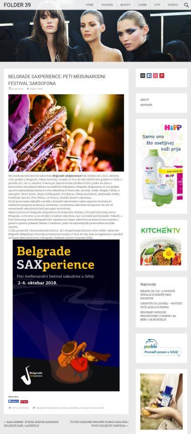 1009 - folder39.com - BELGRADE SAXPERIENCE- PETI MEDJUNARODNI FESTIVAL SAKSOFONA