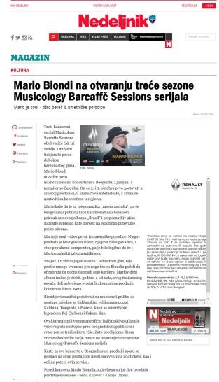 1309 - nedeljnik.rs - Mario Biondi na otvaranju trece sezone Musicology Barcaffe Sessions serijala