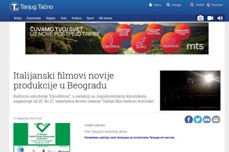 2109 - tanjug.rs - Italijanski filmovi novije produkcije u Beogradu