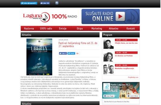 2409 - radiolaguna.rs - Aktuelno- Festival italijanskog filma od 25. do 27. septembra