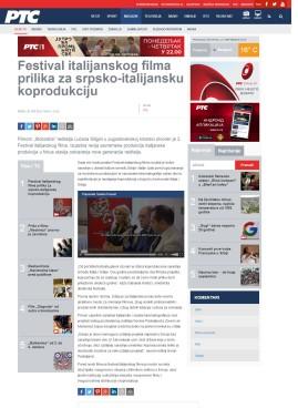 2609 - rts.rs - Festival italijanskog filma prilika za srpsko-italijansku koprodukciju
