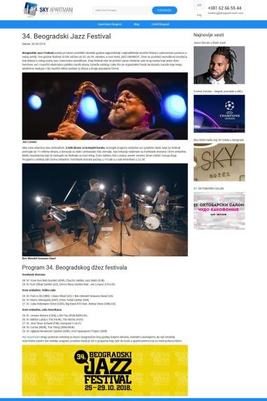 2609 - skyapartmani.com - 34. Beogradski Jazz Festival, od 25. do 29. oktobra